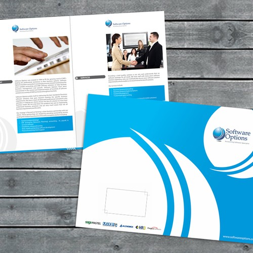 Professional Brochure Design For Software Options Software Company Print Or Packaging Design Contest 99designs