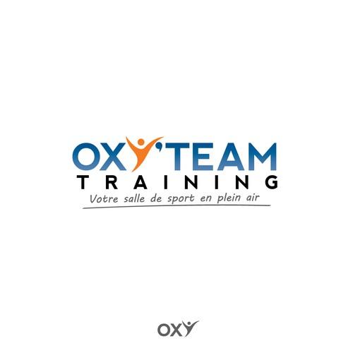 cr er un logo illustrant une salle de sport en plein air pour oxy 39 team training logo design. Black Bedroom Furniture Sets. Home Design Ideas