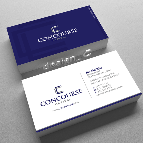 Create sophisticated business card for boutique hedge fund for Sophisticated business cards