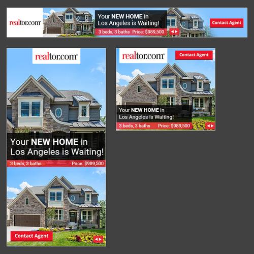 Banner Ads for National Real Estate Website | Banner ad contest on london bay homes, az homes, old brick homes,