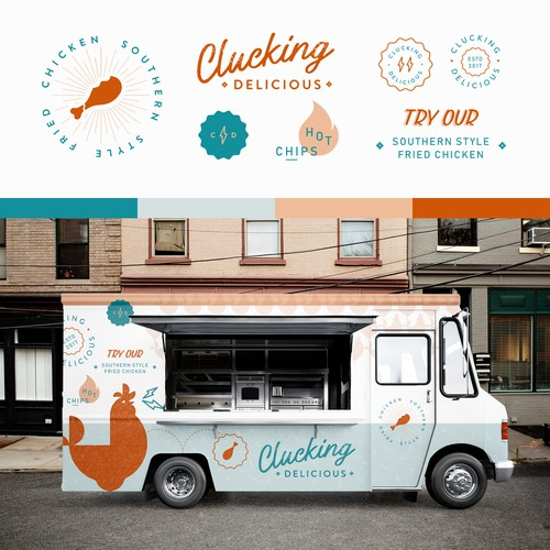 Cluckin delicious food truck car truck or van wrap contest for Best food truck designs