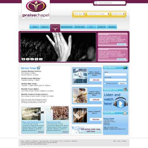 Runner-up design by JMDwebdesign