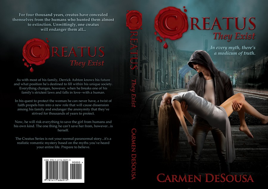 Romance Novel Book Cover Designers ~ New cover for creatus they exist a bestselling