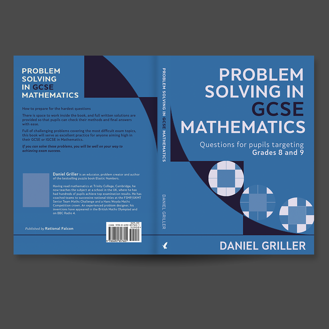 Create an attractive cover for a school mathematics workbook | Book