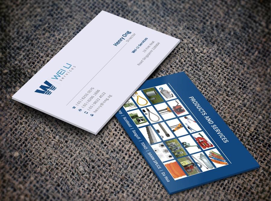 Businesscard design for an Industrial Equipment Supplier ...