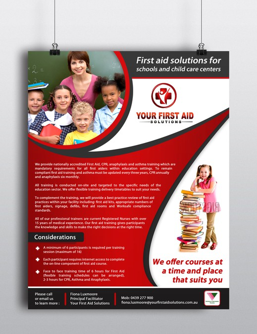 design a flyer for first aid solutions postcard flyer or print
