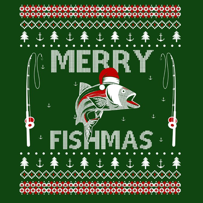 Ugly Christmas Sweater Design.Fishing Ugly Christmas Sweater T Shirt Contest