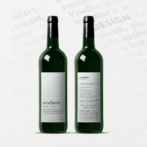 Minimalistic wine label needed Design by O Ñ A T E