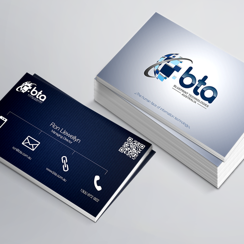 Create a dynamic new business card for an established it company runner up design by hanink malvernweather Images