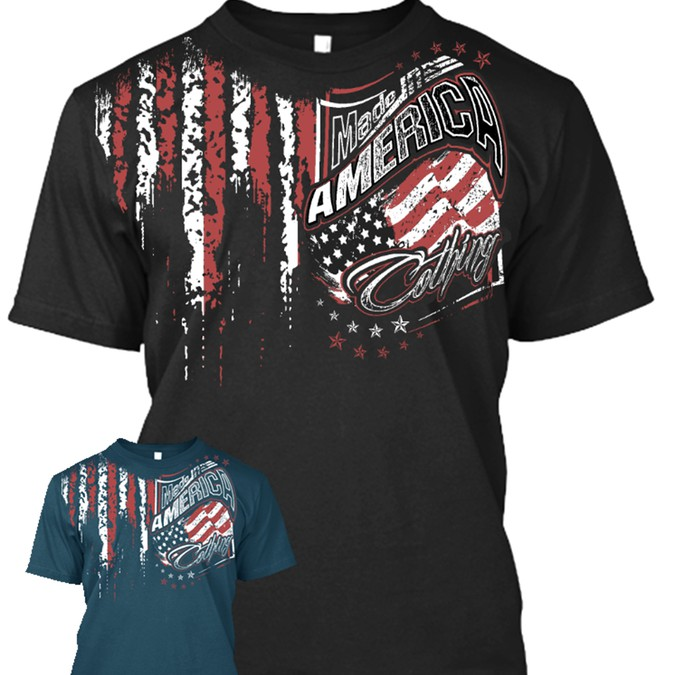 American Design For Made In America Clothing T Shirt Contest