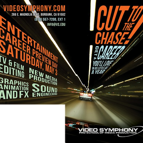 Video Symphony High School Postcard Design by idoballyhoo