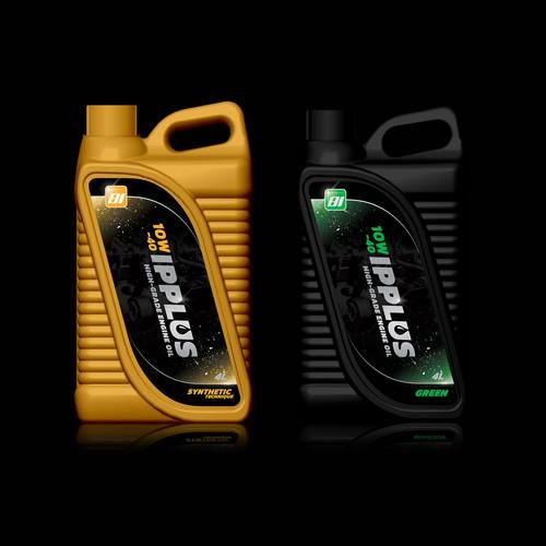 Engine Oil Etiketten Wettbewerb