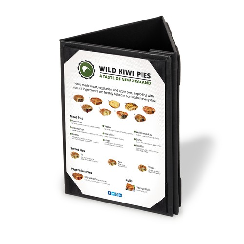 Create a mind blowing advertising pack for new meat pie company Design by Brian Ellis