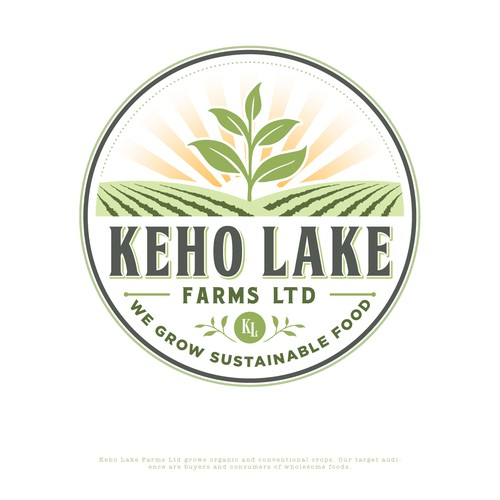 Design an attractive logo for our farm to help us sell our wholesome and sustainable foods. Design by austinminded