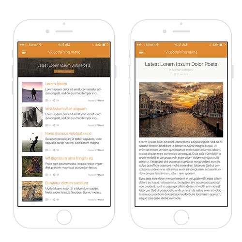 Create A Clean And Beautiful IOS-App Design