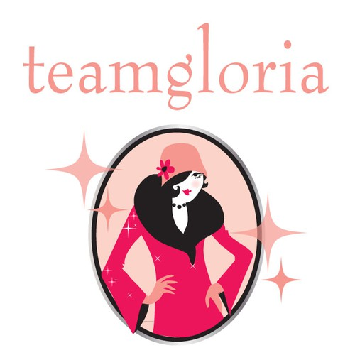 teamgloria would love a new logo! Design by SHANAshay