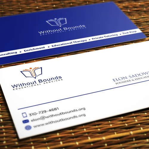 Business cards for without bounds concurso carto de visita design finalista por yousfi design 101 reheart Choice Image