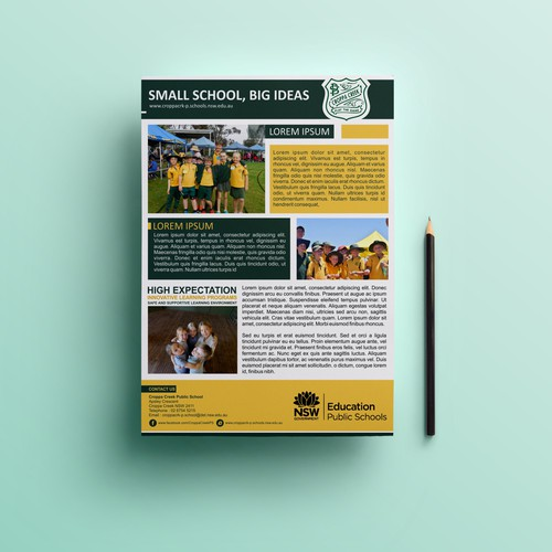 Brochure template for country school other business or for Country brochure template