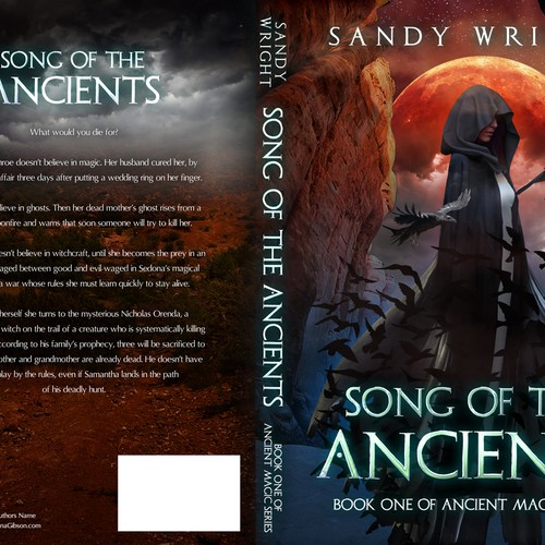Unique book cover for Arizona-based paranormal suspense