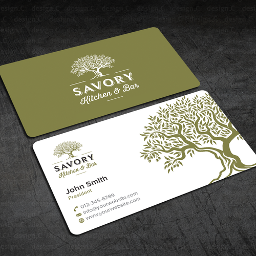 Savory Kitchen Bar Business Cards Business Card Contest