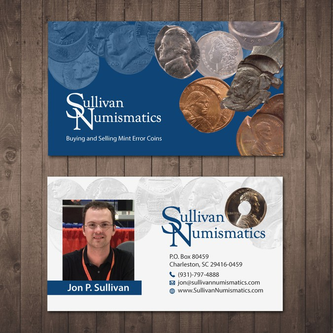 Business Card for Rare Coin Dealer in Mint Errors | Business card
