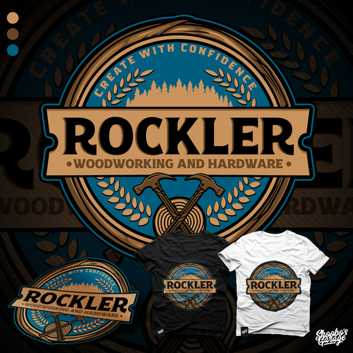 Design A Retro Sticker For Rockler Woodworking And Hardware