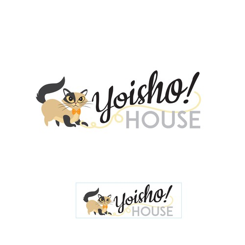 Cute, classy but playful cat logo for online toy & gift shop Design by Moonlit Fox