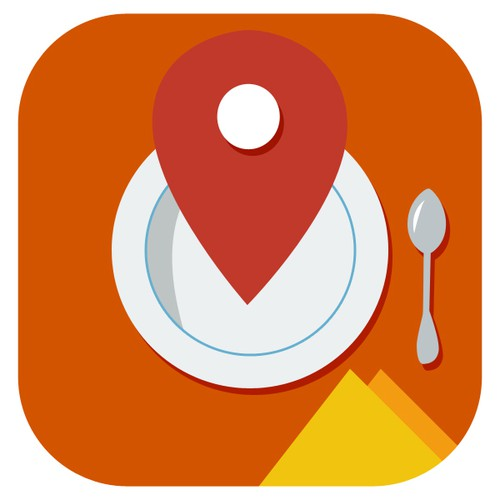 Store your best restaurants iphone app icon oder