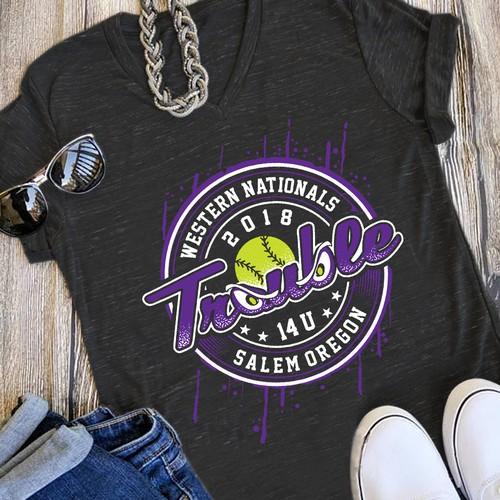57d1676c6 Design a kick ass girls softball shirt!!! | T-shirt contest