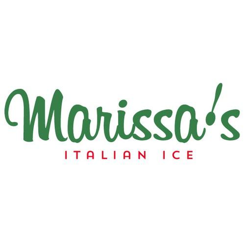 ITALIAN ICE...cool and colourful dessert company logo ...
