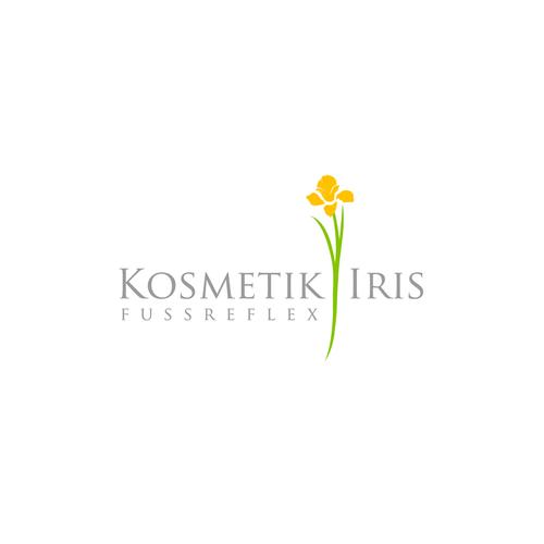 Visitenkarte Für Kosmetik Iris Und Fussreflex Logo