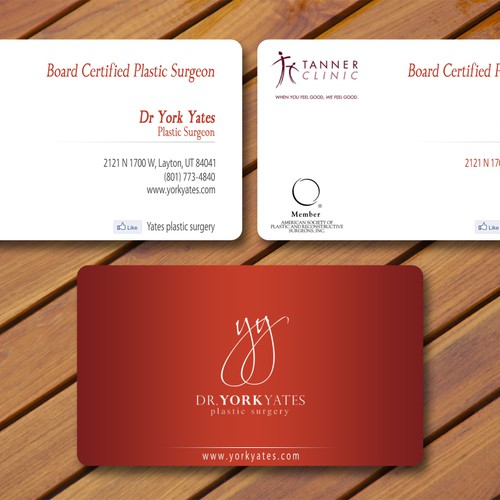 Dr york yates plastic surgery business card stationery contest runner up design by lsdesign reheart