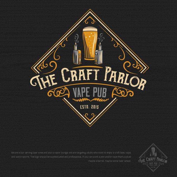 Craft Beer Vape Pub Logo I Want To See Vintage And Class Logo