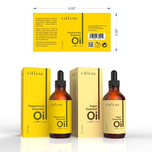 Create a Simple Brand Packaging for Pure Essential Oil Company Design by Imee008