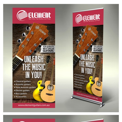 Create A Capturing Stand Up Banner For Element Guitars Banner Ad Contest 99designs