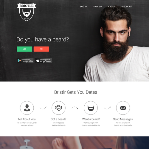 Beard dating app