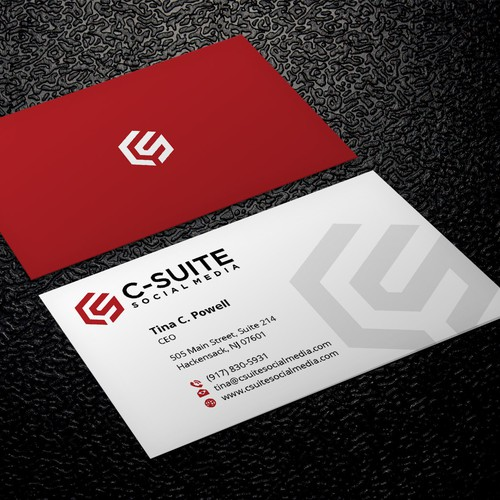 Design a modern business card for c suite social media business runner up design by xclusive16 reheart Images