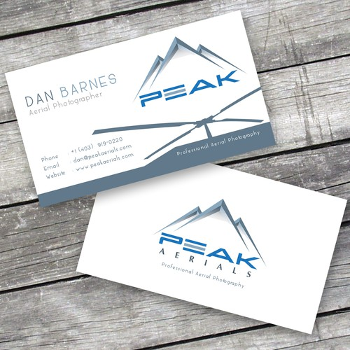 Create a business card for peak aerials professional aerial runner up design by stmike01 reheart Images