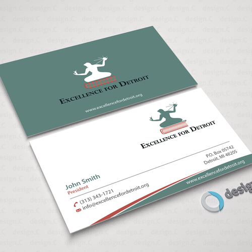 Looking for new business cards for educational nonprofit in detroit runner up design by designc colourmoves