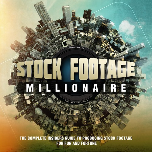 "Eye-Popping Book Cover for ""Stock Footage Millionaire"" Design by Andrei.B."