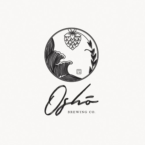 Design a tattoo style logo for Oshō Brewing Co  | Logo