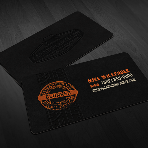 Carcomplaints business card stainless steel letterpress runner up design by jecakp colourmoves