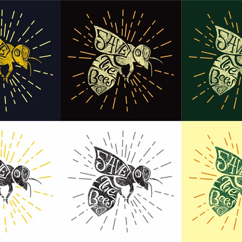 """Create a """"Save the Bees"""" Illustration Design by REVOLTZ Studio"""