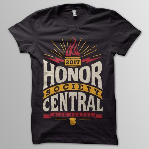 High School Honor Society T-shirt for www.imagemarket.com Design by appleART™
