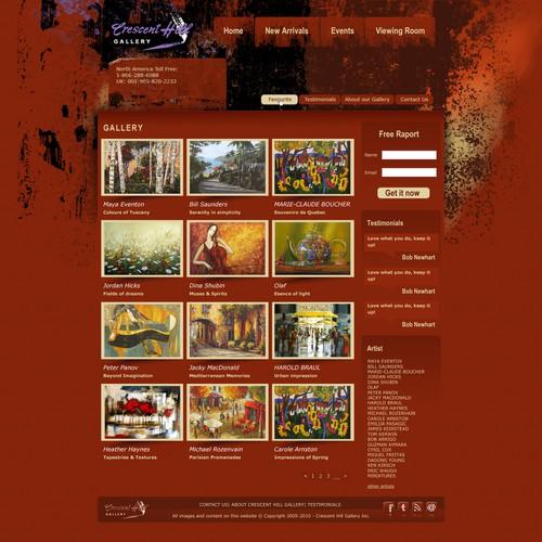 Diseño finalista de webpagini