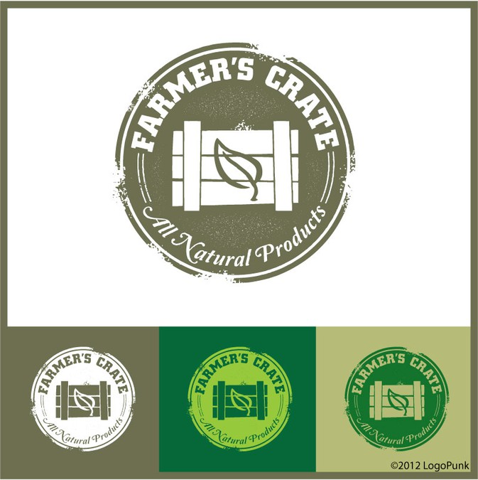 Winnend ontwerp van logopunk