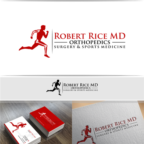 Create a bold logo for a sports orthopedic surgeon logo business runner up design by colourmoves