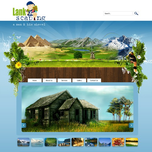 Landscape website design required web page design contest for Landscape design contest