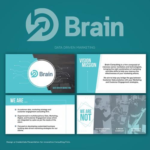 design a credentials presentation for innovative consulting firm