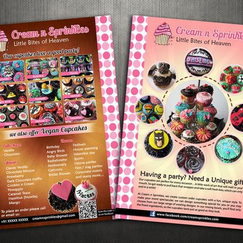 Cupcake Flyer for Cream n Sprinkles | contest di cartoline